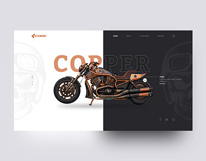 Cobe Copper Landing Page Design