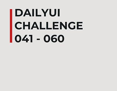 Daily UI Challenge (041 - 060) (UPDATING)