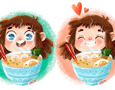 RAMEN GIRL - illustrations
