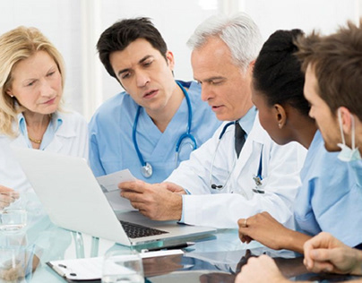 Medical team at work