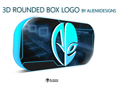 """3D Rounded Box Logo"" Mockup"