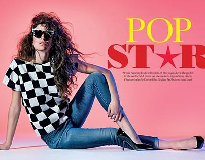 'POP STAR' for ELLE Magazine (May)