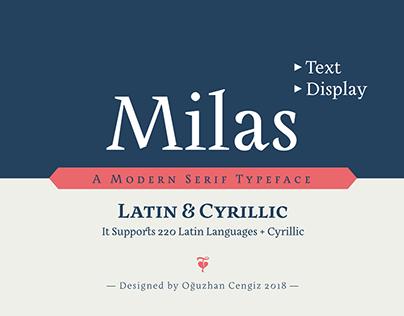 Milas Text & Display Font