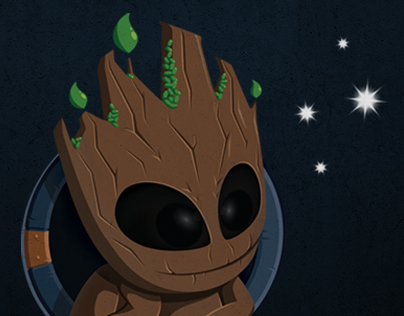 Groot Staring at the Stars