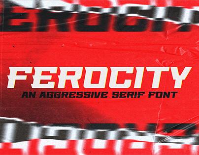 Ferocity - FREE SERIF FONT