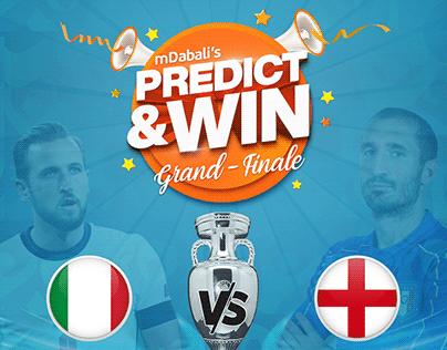 Predict & Win Poster Design