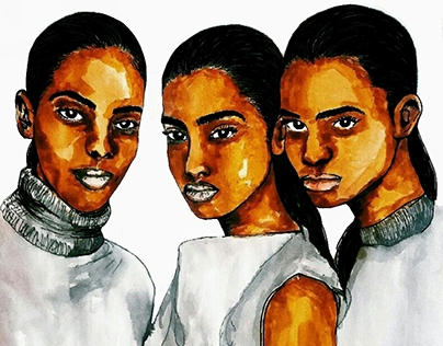 Women of Color illustrations