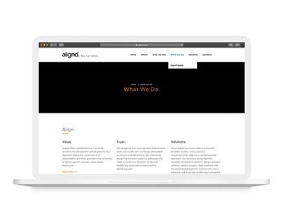 Alignd Website Design
