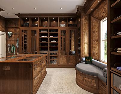 Walnut Dressing Room - CGI