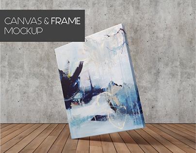 Free Minimalist Canvas Mockup (+1 Free)