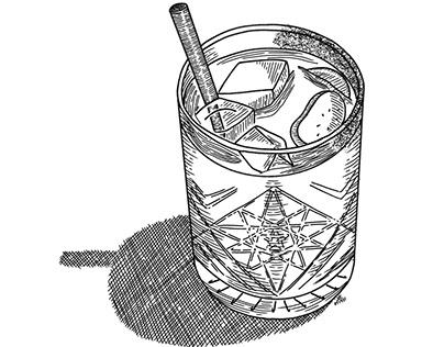 Tiki Mezcal Cocktail