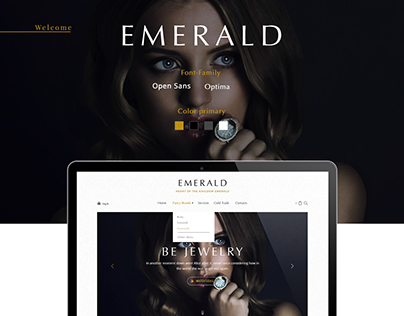 Landing Page Emerald
