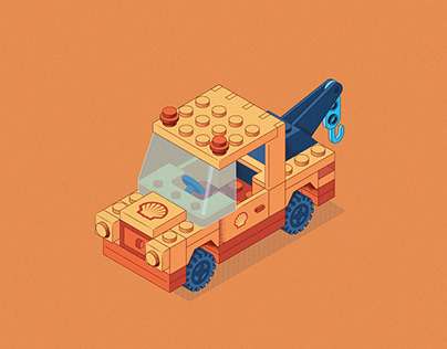 Lego truck illustration