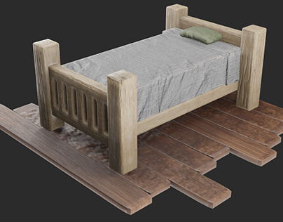 Stylized Bed (3D)
