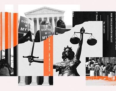 The Guardian - Trump's Judges illustrations