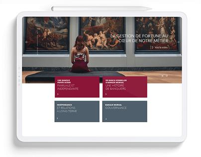 Morval Banque Website Redesign
