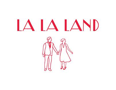 La La Land Songs Lyrics Typography