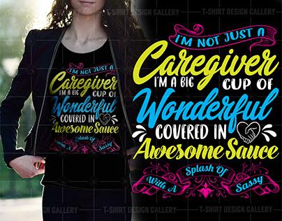 caregiver t- shirt design