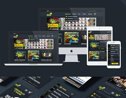 Design + prototype (UI) Adaptive web site for Big Up