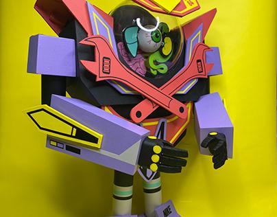 Toy art cyborg