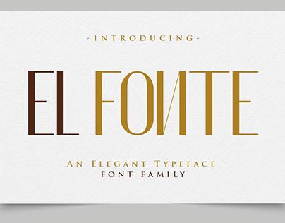 El Fonte - An Elegant Typeface Font Family !