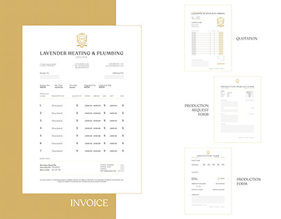 Lavender Heating & Plumbing Collateral Design