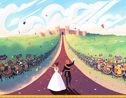 The Royal Wedding - Google Doodle