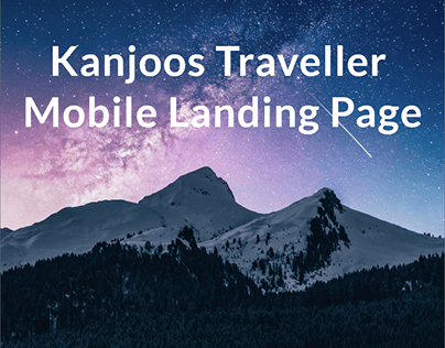 Kanjoos Traveller Mobile Landing Page for Itinerary