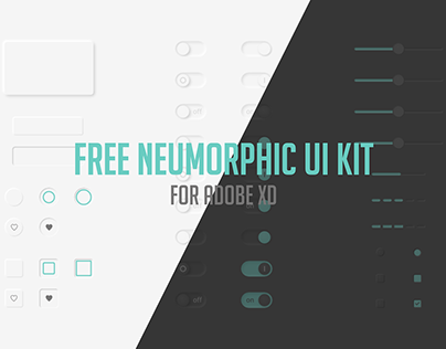 Neumorphic UI kit (free download)