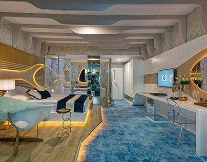 Mediterranean hotel room