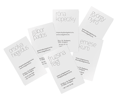 acb Gallery Business Cards | 2015
