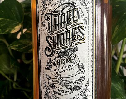 Three Shores Whiskey Label Design