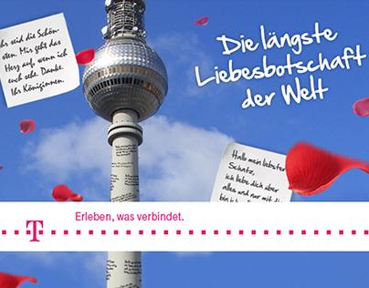 """Telekom – """"Die längste Liebesbotschaft der Welt"""""""
