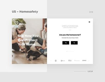 US-Homesafety. Landing page