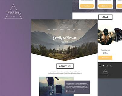 TrekRebel Website Re-design