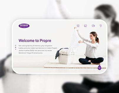 Propre Laundry Website