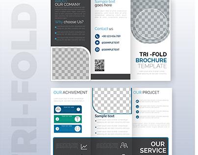 Corporate Brochure Design Template with photo sapce