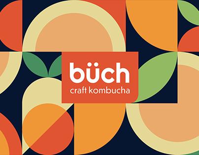 Büch Craft Kombucha Label Design