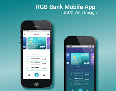RGB Bank Mobile App UI\UX Web Design
