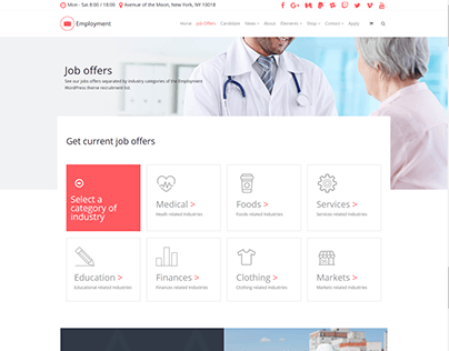 Job Offers Page - Employment WordPress Theme