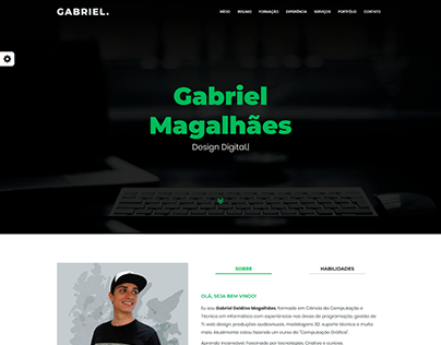 Site Pessoal - Gabriel Magalhães
