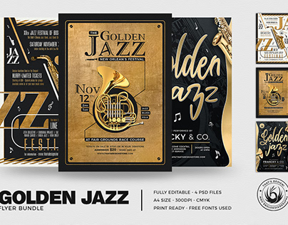 Golden Jazz Flyer Bundle