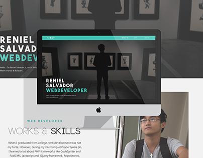 Web design for Salvador's single page web portfolio