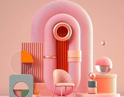 Geometric Shapes | 3D illustration