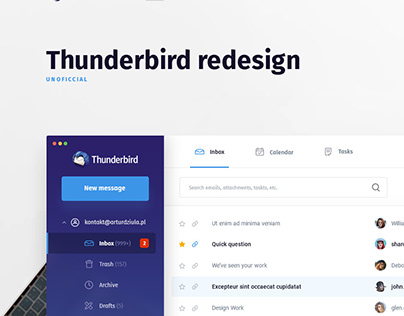 Thunderbird redesign