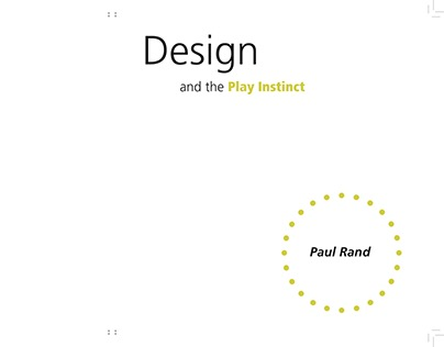 Play Instinct Book Design