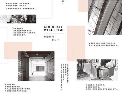 IG layout (Black & White photograph)