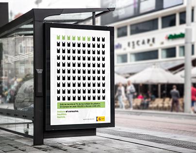 Campaña publicitaria: concienciación sobre el plástico