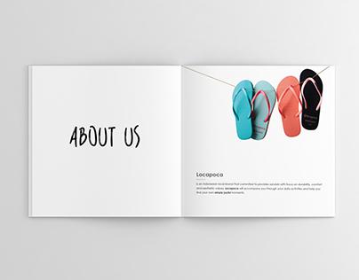 Locapoca Sandals Catalogue Design