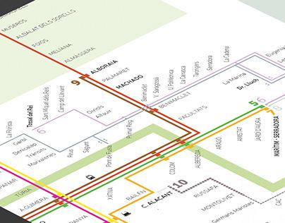 València Metro network map